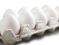 White eggs Stock Photos