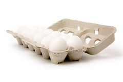 White eggs Stock Images