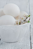 White eggs in a bowl Stock Photo