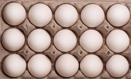 White eggs in the box Royalty Free Stock Photo