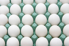 White eggs in cardboard box Royalty Free Stock Photography