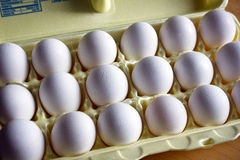 White eggs Stock Photos