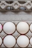 White Eggs in Modern Cardboard Packing royalty free stock photos