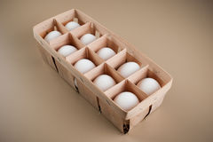 White eggs in the natural package Stock Image