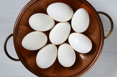 White Eggs On A Plate Royalty Free Stock Photo
