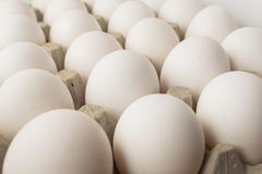 White eggs in the package Royalty Free Stock Photography