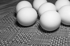 White Eggs On A Table Royalty Free Stock Photography