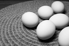 White Eggs On A Table Royalty Free Stock Photo