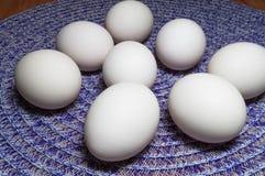 White Eggs On A Table royalty free stock photos