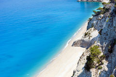 White Egremni beach (Lefkada, Greece) Royalty Free Stock Image