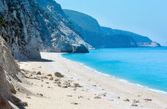 White Egremni beach (Lefkada, Greece) Stock Photography