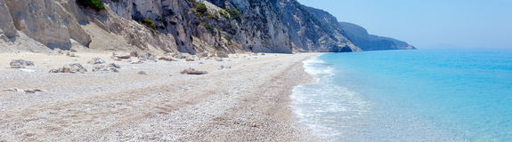 White Egremni beach (Lefkada, Greece) Royalty Free Stock Image