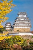 White Egret Castle in Himeji, Japan in autumn. Located on a hilltop in Hyōgo Prefecture, Himeji Castle is the most spectacular castle in all of Japan royalty free stock photo