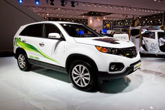 White electric car Kia Sorento Stock Photo