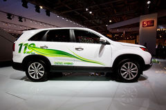 White electric car Kia Sorento Royalty Free Stock Photos