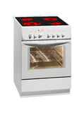 White electric cooker stock photo