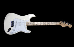 White Electric Guitar Royalty Free Stock Photography