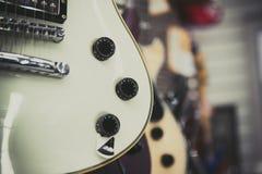White electric guitar body detail Royalty Free Stock Photos