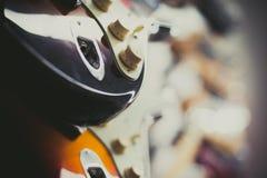 White electric guitar body detail Stock Photos