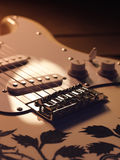 White electric guitar Royalty Free Stock Photo