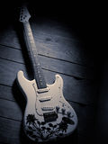 White electric guitar Stock Images