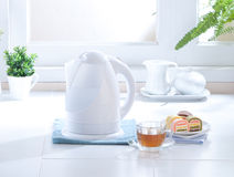 White Electric Kettle Water Boiler Royalty Free Stock Photo