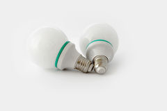 White electric light bulbs isolated on white background Stock Image
