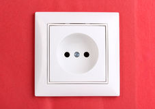 White electric socket Stock Photography