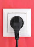 White electric socket Royalty Free Stock Image