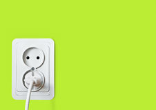 White electric socket Royalty Free Stock Photography