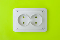 White electric socket Royalty Free Stock Photos