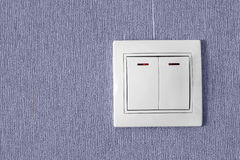 White electric switch Royalty Free Stock Photos