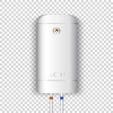 White electric water heater stock illustration