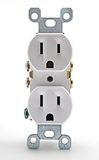 White Electrical Outlet. A uninstalled white electrical outlet Royalty Free Stock Images