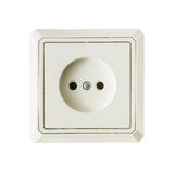 White Electrical Outlet. Isolated on a white background Stock Image