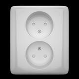 White electrical socket Stock Photos