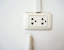 White electrical socket Royalty Free Stock Image