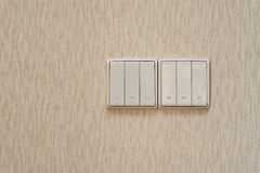 White electrical switches Stock Photo