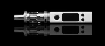 White electronic cigarette Stock Image