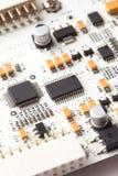 White electronic circuit board Stock Photo