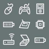 White electronics web icons 2 Stock Photography