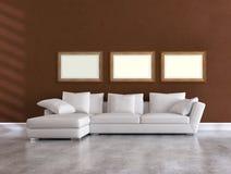 White elegant couch Stock Photos