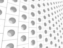 White Elegant Doted Cubes Background Stock Image