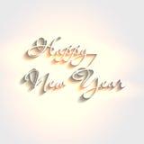 White elegant text design happy new year. Easy editable vector illustration