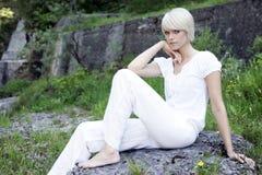 White Element Photoshoot Stock Images