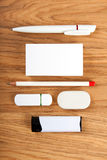 The white elements of corporate identity Royalty Free Stock Photo