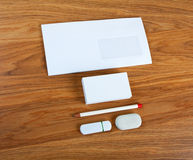 The white elements of corporate identity Stock Image