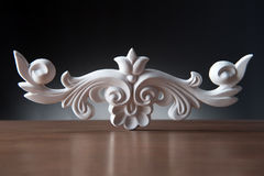 White elements of interior decoration, wall design Royalty Free Stock Photography