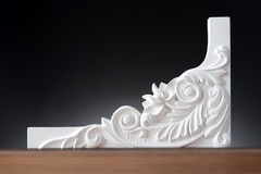 White elements of interior decoration, wall design Stock Image