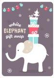 White Elephant Gift Exchange Illustration Royalty Free Stock Images